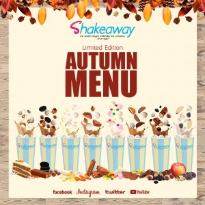 Shakeaway's limited edition Autumn menu