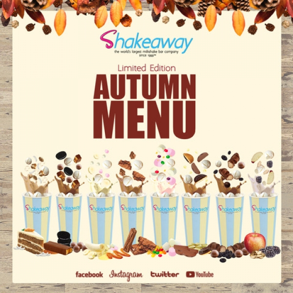 Shakeaway's Amazing Autumn menu