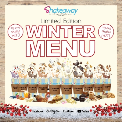 Shakeaway's Limited Edition Winter Menu