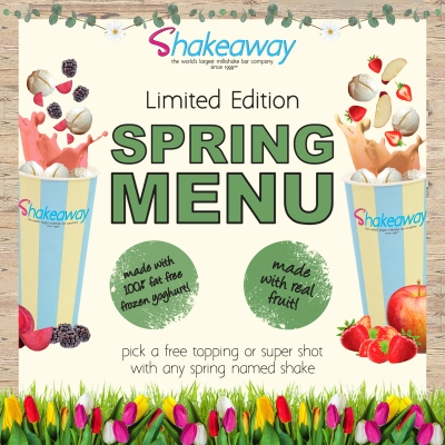 Shakeaway's limited-edition Spring shakes menu
