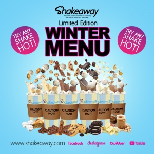 Warm up with Shakeaway's limited-edition Winter menu