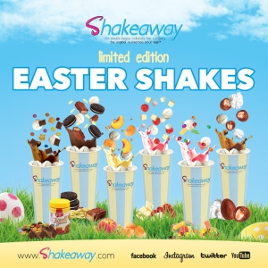 Shakeaway's limited edition Easter menu is now in stores